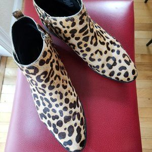 Leopard booties Steve Madden